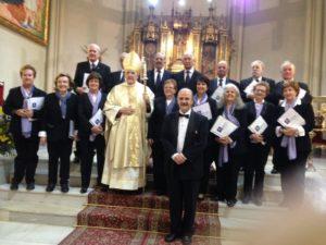 Con el Cardenal y Arzobispo de Madrid, D, Carlos Osoro en la iglesia de San José de la Montaña, en Madrid ( 20 de marzo 2017)